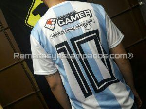 Camiseta Argentina Rusia Sublimada Muestra Sublimacion Equipo Espalda remerasyestampados.com