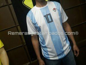 Camiseta Argentina Rusia Sublimada Muestra Sublimacion Equipo Frente remerasyestampados.com