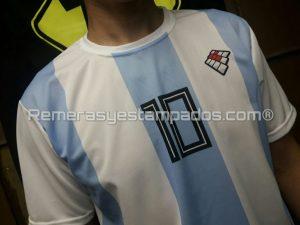 Camiseta Argentina Rusia Sublimada Muestra Sublimacion Equipo Frente Zoom remerasyestampados.com