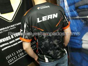 Camiseta sublimada CompraGammers Espalda remerasyestampados.com