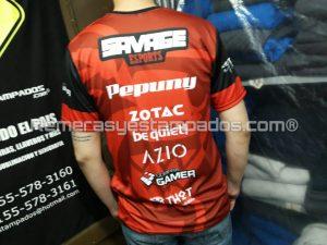 Camiseta sublimada CompraGammers Savage Espalda remerasyestampados.com