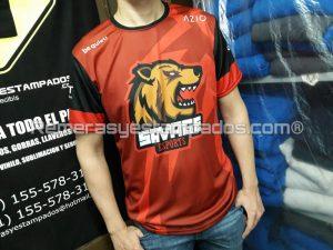 Camiseta sublimada CompraGammers Savage Frente 2 remerasyestampados.com