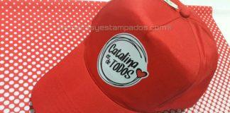 Gorra Publicitaria estampada con Vinilo Termo Textil Impreso