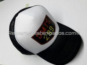 Gorra Trucker Vicera Curva estampada con Vinilo Termo Impreso Club Motos Negra remerasyestampados.com