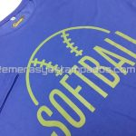 remera algodón azul francia serigrafia softball remerasyestampados.com