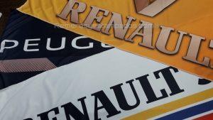 Banderas estampadas con Sublimación remerasyestampados.com