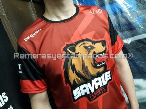 Camiseta sublimada CompraGammers Savage Frente Zoom remerasyestampados.com