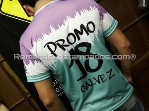 Espalda Camiseta Sublimada entera Egresados degradee remerasyestampados.com
