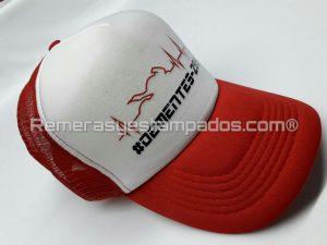 Gorra Trucker Vicera Curva estampada con Vinilo Termo Impreso Club Motos Roja remerasyestampados.com
