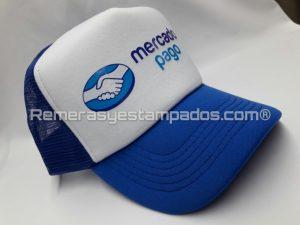 Gorra Trucker Vinilo Termo Impreso MercadoPago remerasyestampados.com