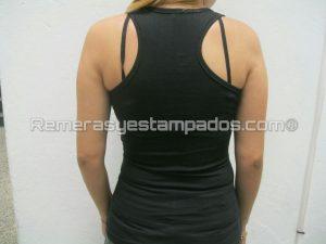 Musculosa dama negra competicion espalda remerasyestampados.com