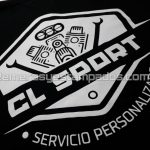 remera algodón negra serigrafía cl sport remerasyestampados.com