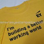 remera de algodón amarilla vinilo termo transferible remerasyestampados.com