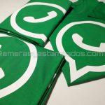 remera algodón verde vinilo termo transferible remerasyestampados.com