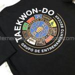 remera algodón negro vinilo termo transferible impreso taekwon-do remerasyestampados.com